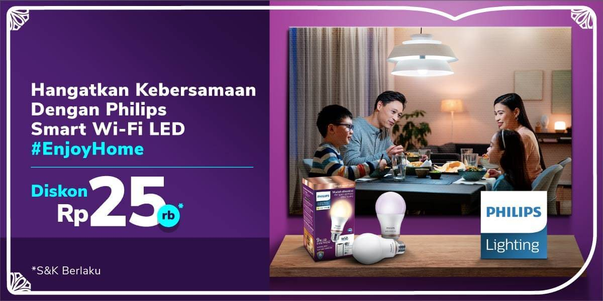 Diskon Tokopedia Promo Diskon Rp. 25.000 Untuk Philips Smart Wi-Fi LED
