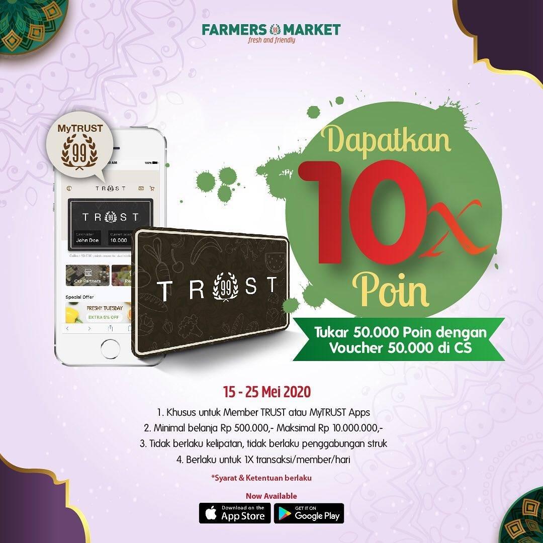 Diskon Farmers Market Promo Bonus 10x Poin Setiap Tukar 50.000 Poin Dengan Voucher 50.000
