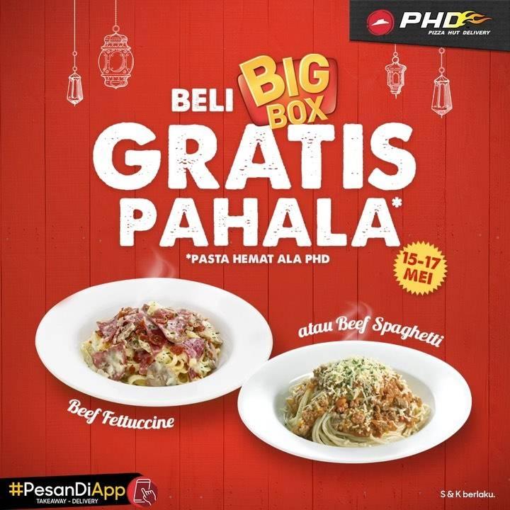 Diskon PHD Promo Gratis Pasta Hemat Ala PHD Setiap Beli Big Box