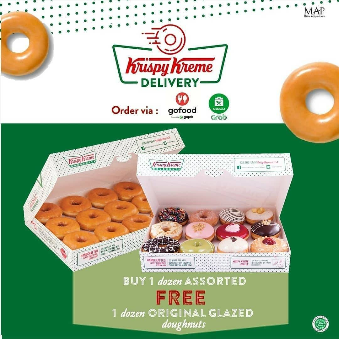 Diskon Krispy Kreme Buy 1 Dozen Assorted Get Free 1 Dozen Original Glazed