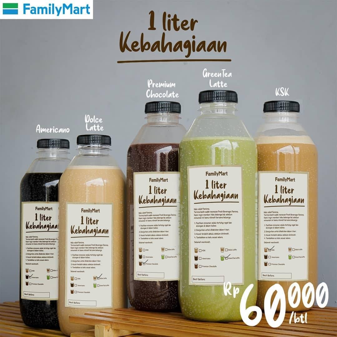 Diskon Family Mart Promo 1 Liter Kebahagiaan Cuma Rp 60.000/ Botol