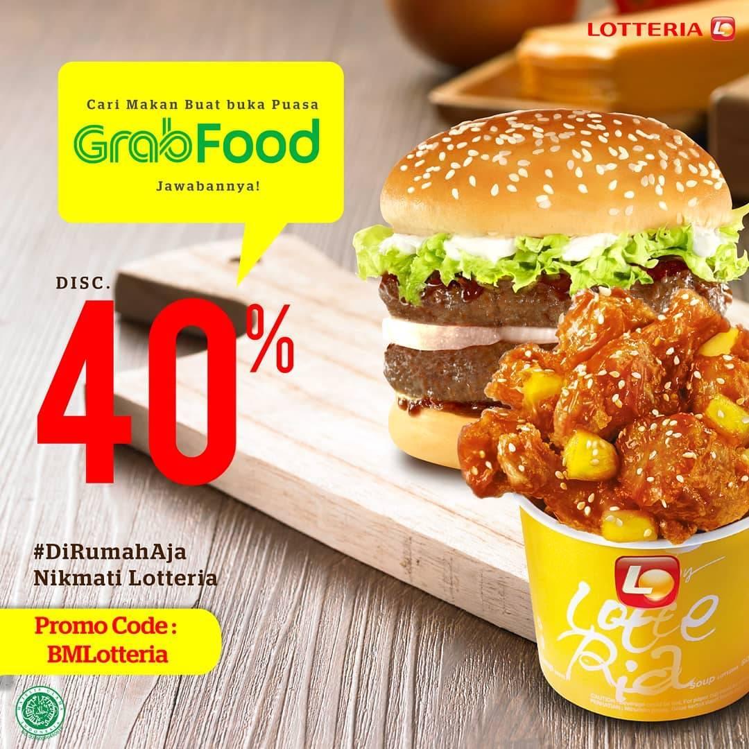 Diskon Lotteria Promo Diskon 40% Untuk Pemesanan Menu Melalui GrabFood