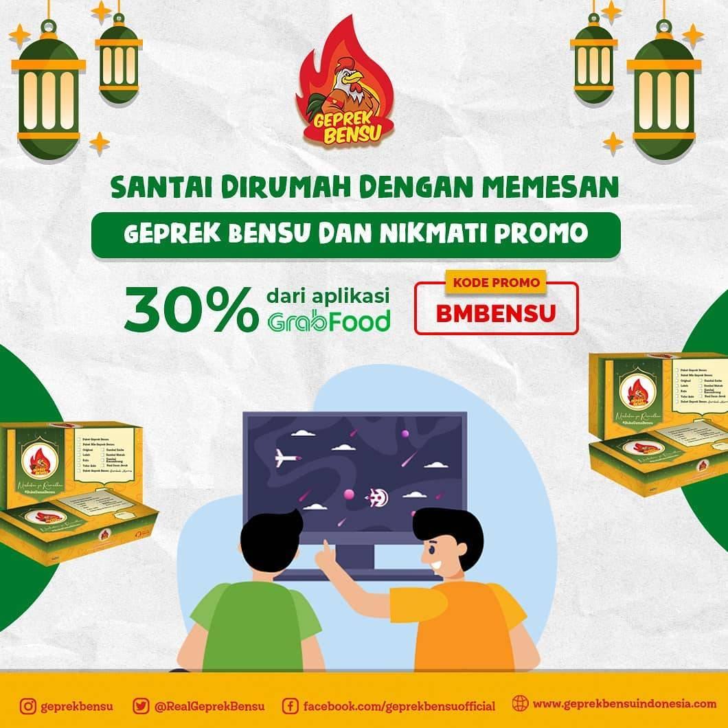 Diskon Geprek Bensu Promo Diskon 30% Untuk Pemesanan Menu Melalui GrabFood