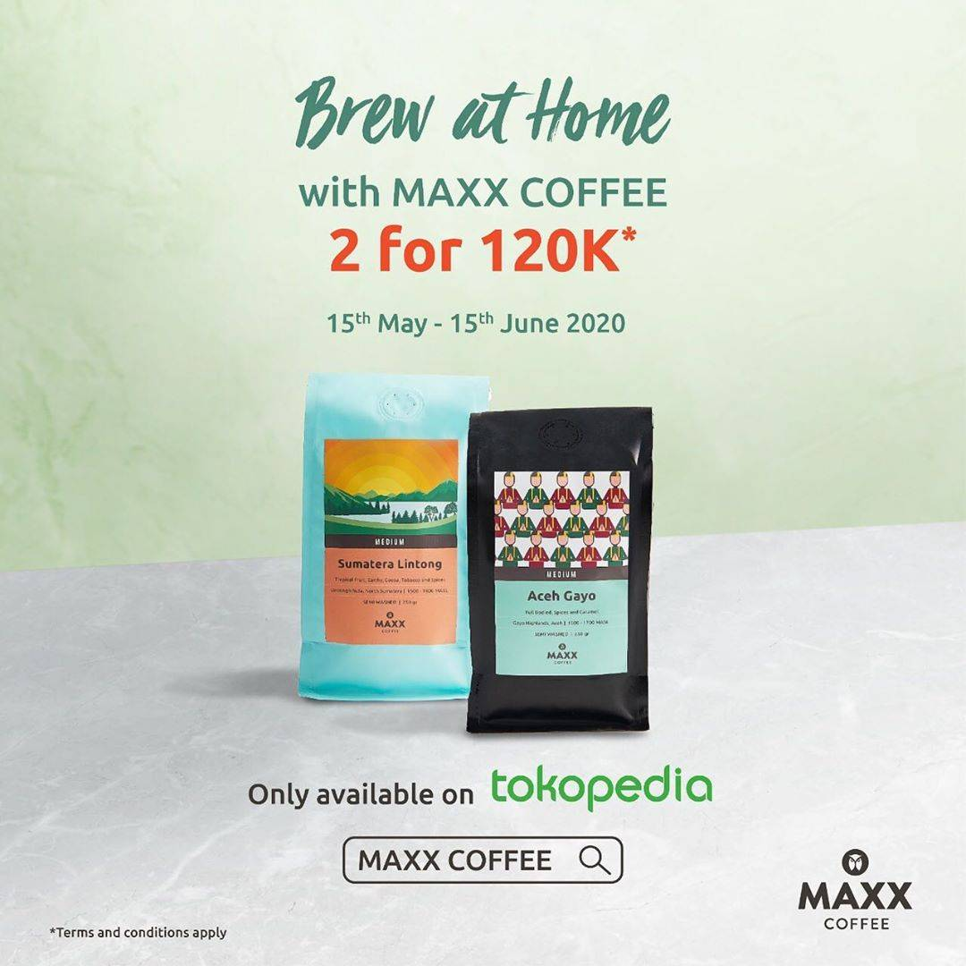 Diskon Maxx Coffee Promo Two Packs Of Beans Only For Rp. 120.000