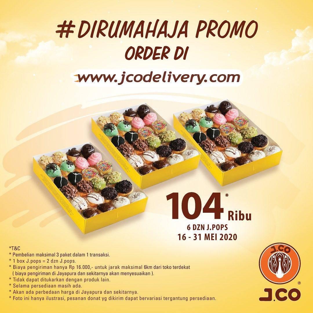 Diskon J.CO Promo 6 Lusin J.Pops Cuma Rp. 104.000
