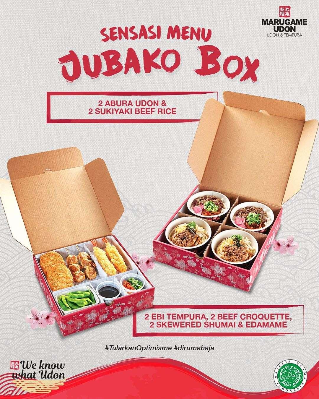 Diskon Marugame Udon Promo Sensasi Menu Jubako Box Dengan Harga Rp. 220.000