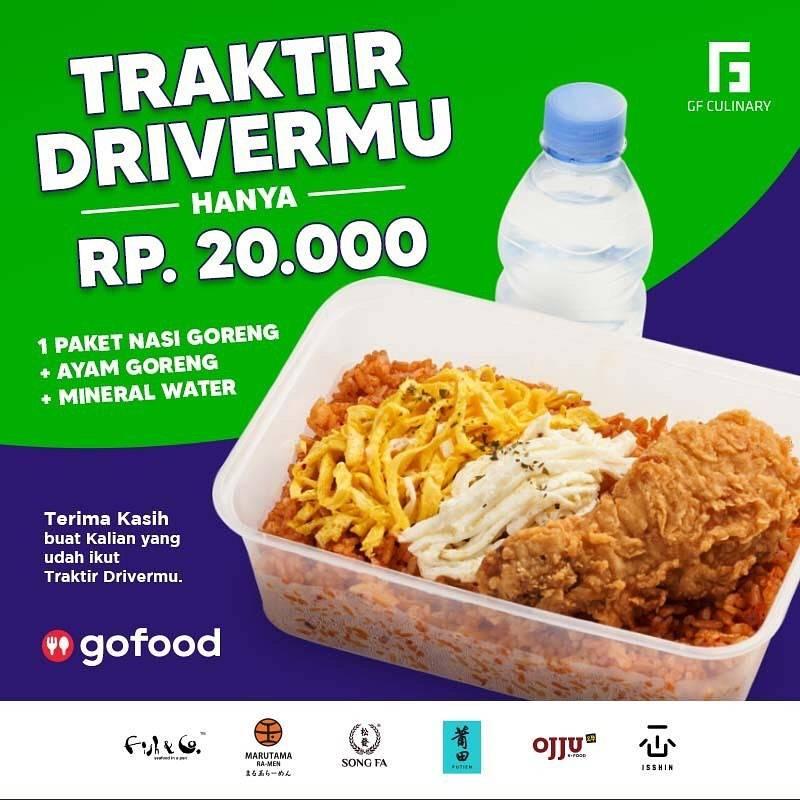 Diskon Ojju Promo Paket Traktir Driver Cuma Rp. 20.000 Untuk Pemesanan Melalui GoFood
