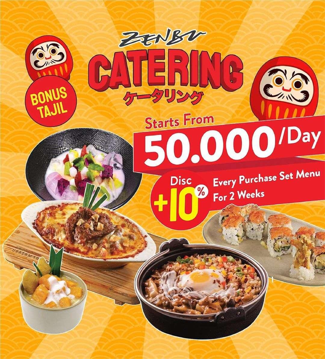 Diskon Zenbu Promo Menu Catering Dengan Harga Mulai Dari Rp. 50.000/Hari + Diskon 10% / 2 Minggu