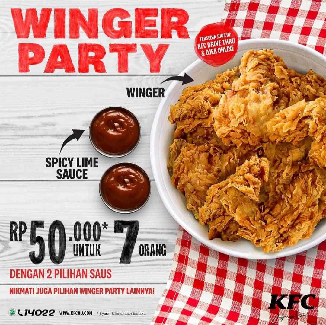 Diskon KFC Promo Winger Party Untuk 7 Orang Cuma Rp. 50.000