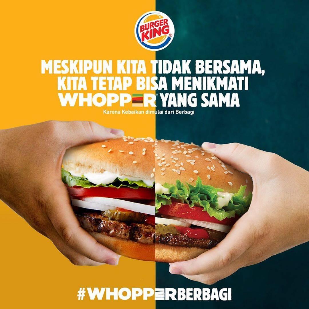 Diskon Burger King Promo Gratis 1 Kupon Whopper Setiap Pembelian 1 Whopper Melalui Aplikasi Burger King