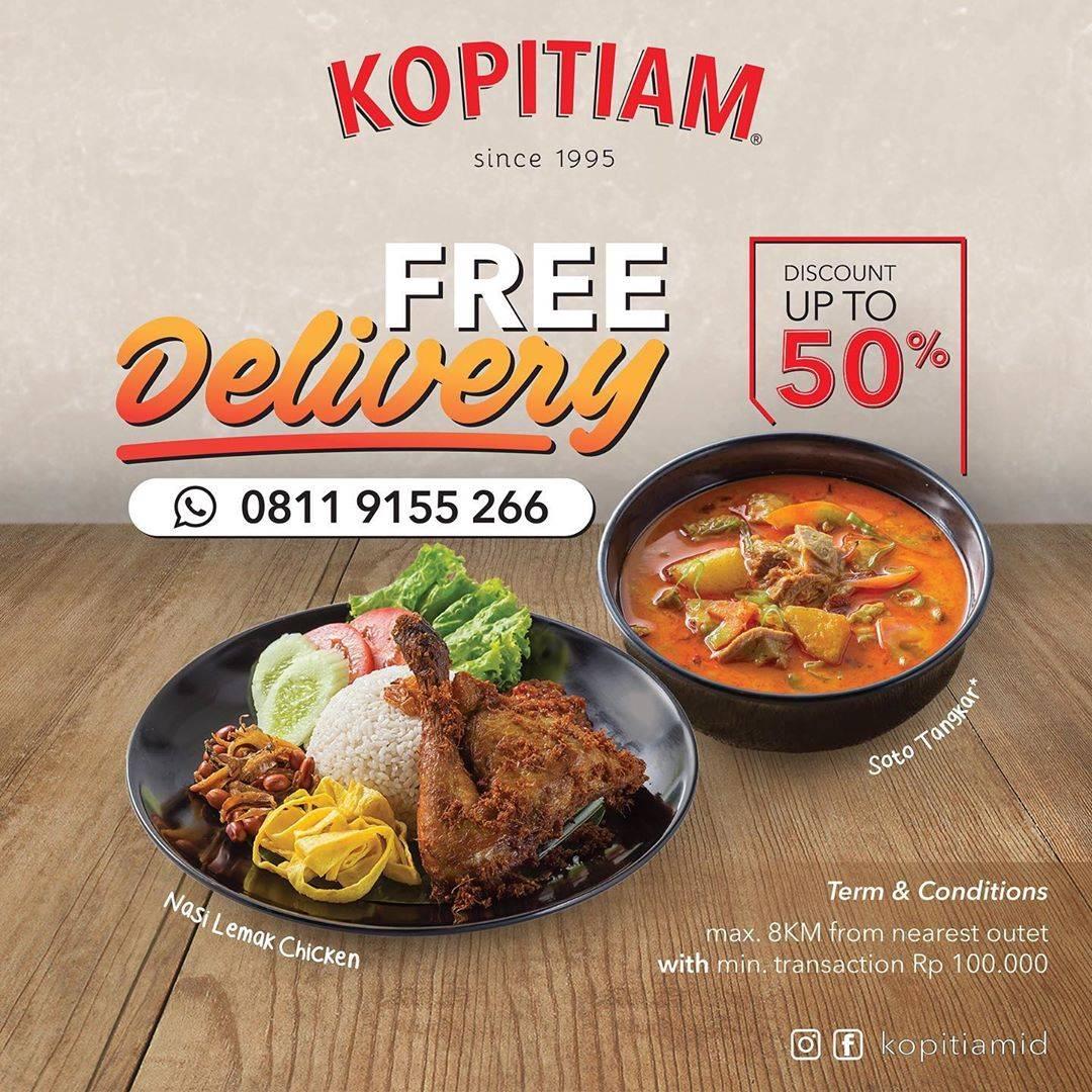Diskon Kopitiam Promo Diskon Hingga 50% + Free Delivery