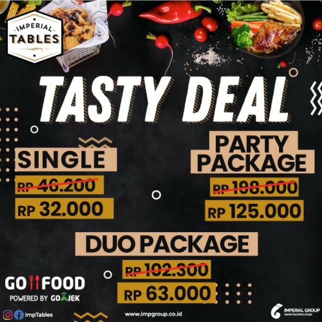 Diskon Imperial Tables Promo Tasty Deal, Get Special Packages Start From Rp. 32.000 On GoFood
