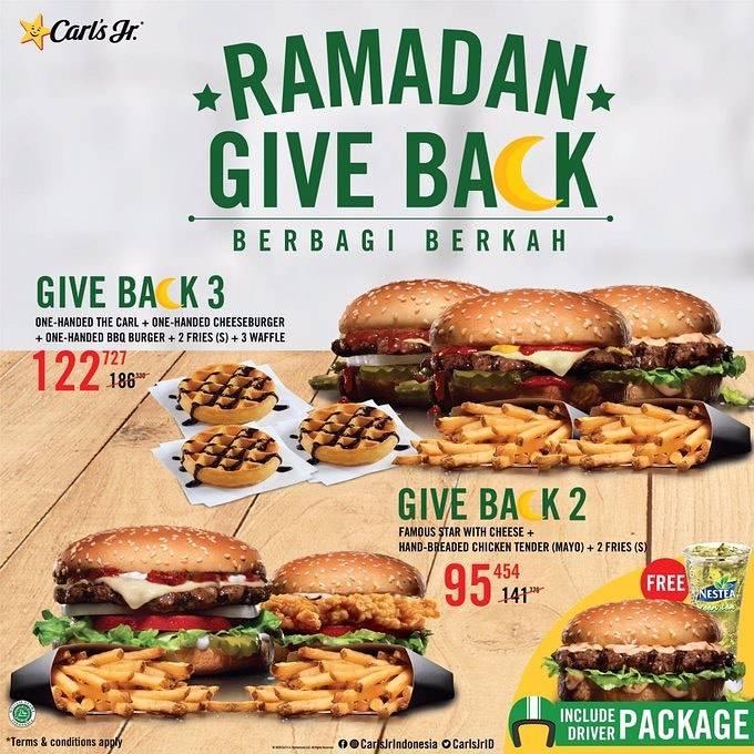 Diskon Carls Jr Promo Paket Ramadan Give Back Dengan Harga Mulai Dari Rp. 95.545