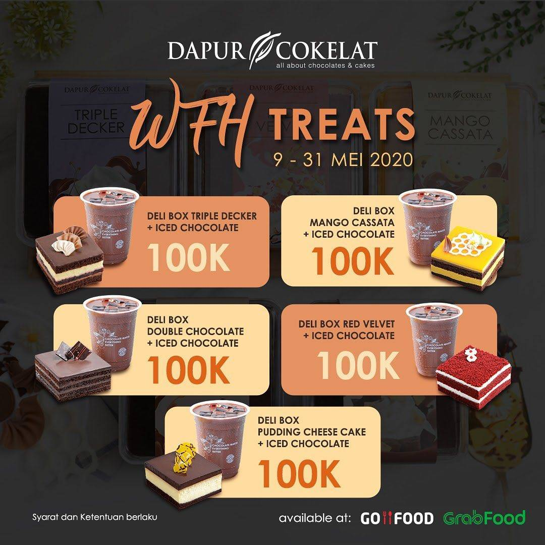 Diskon Dapur Cokelat Promo WFH Treats, Harga Spesial Paket Dirumah Aja Hanya Rp. 100.000