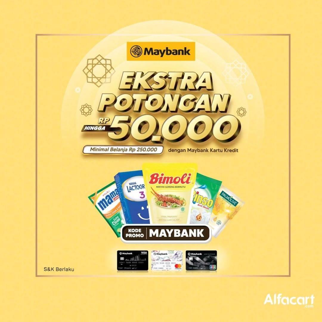 Diskon Alfacart Promo Ekstra Potongan Hingga Rp. 50.000 Dari Bank Maybank