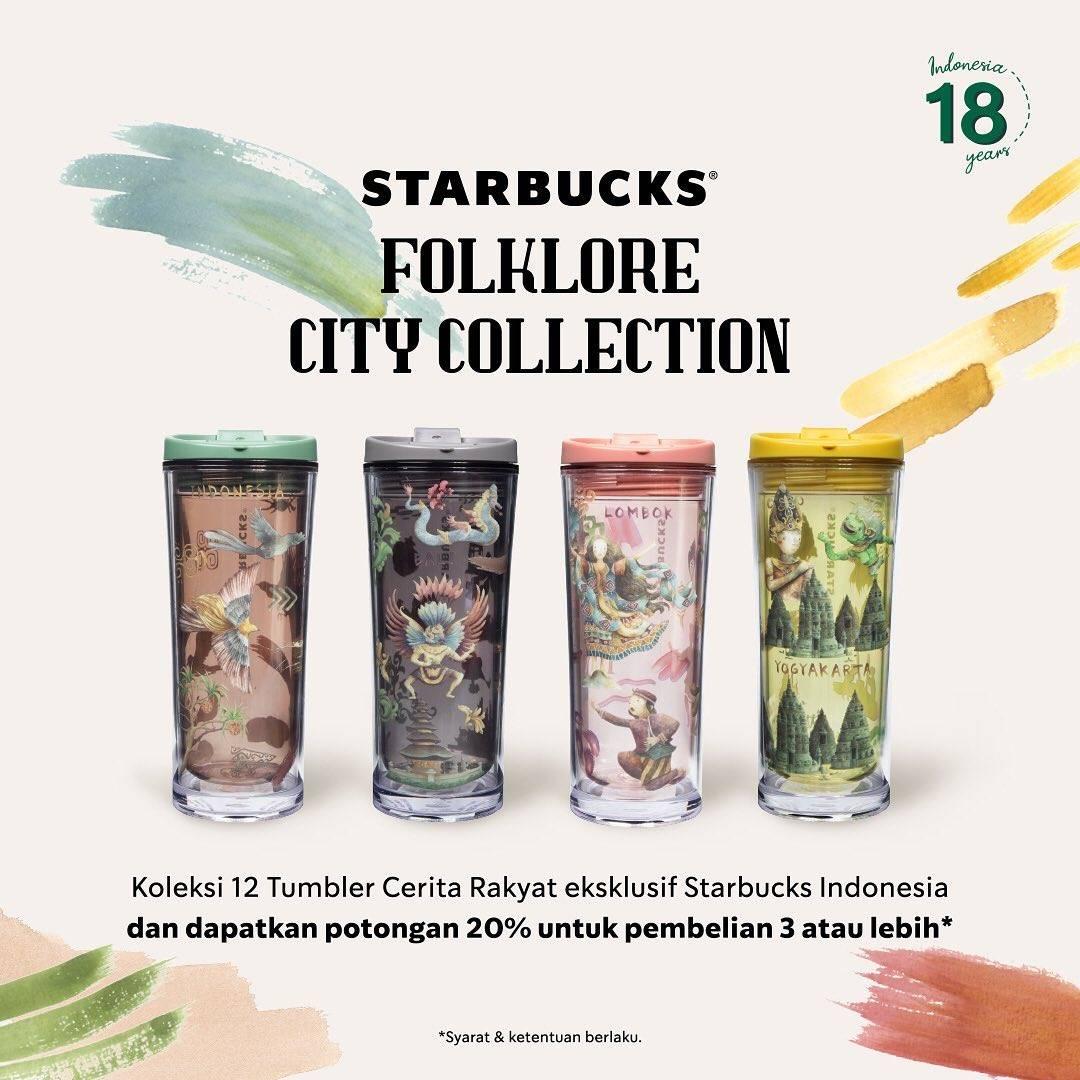 Diskon Starbucks Promo Potongan 20% Setiap Beli 3 Folkcore City Collection Tumblr
