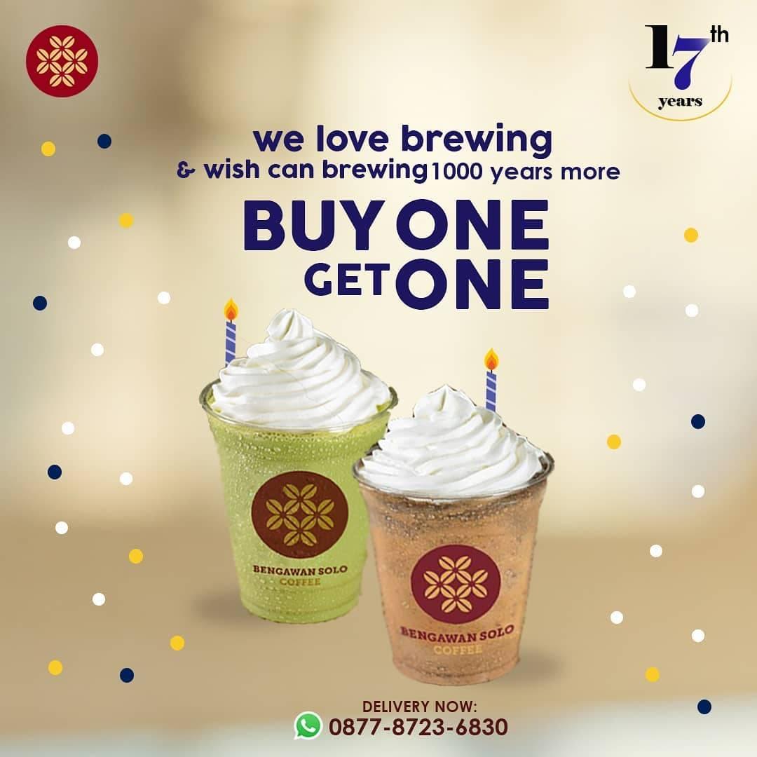 Diskon Bengawan Solo Coffee Promo 2 Hari Buy 1 Get 1 Free Coffee