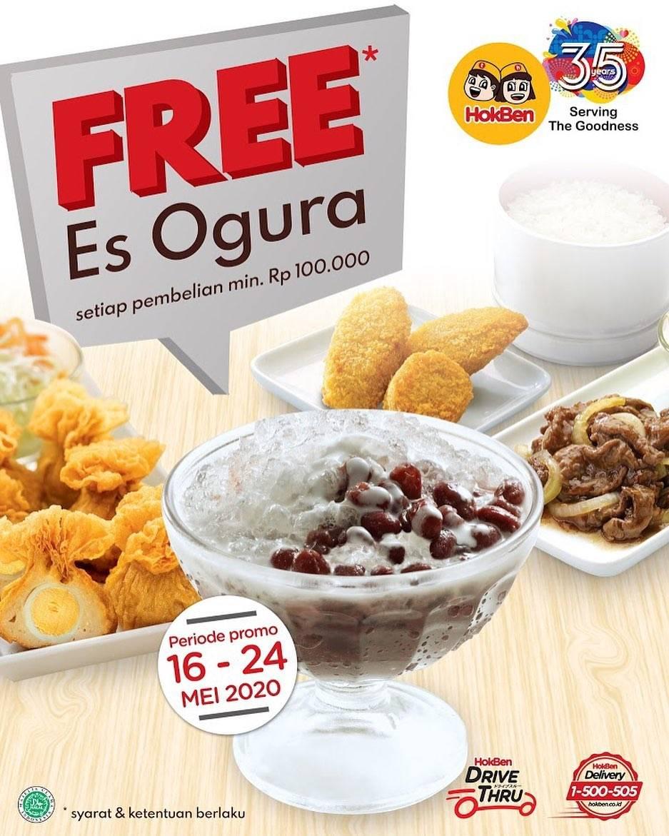 Diskon Hokben Promo Gratis Es Ogura Setiap Pembelian Minimal Senilai Rp. 100.000