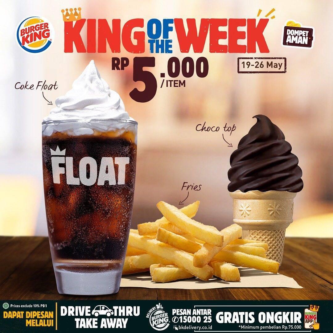Diskon Burger King Promo King Of The Week Dapatkan Menu Dengan Harga Mulai Dari Rp. 5.000