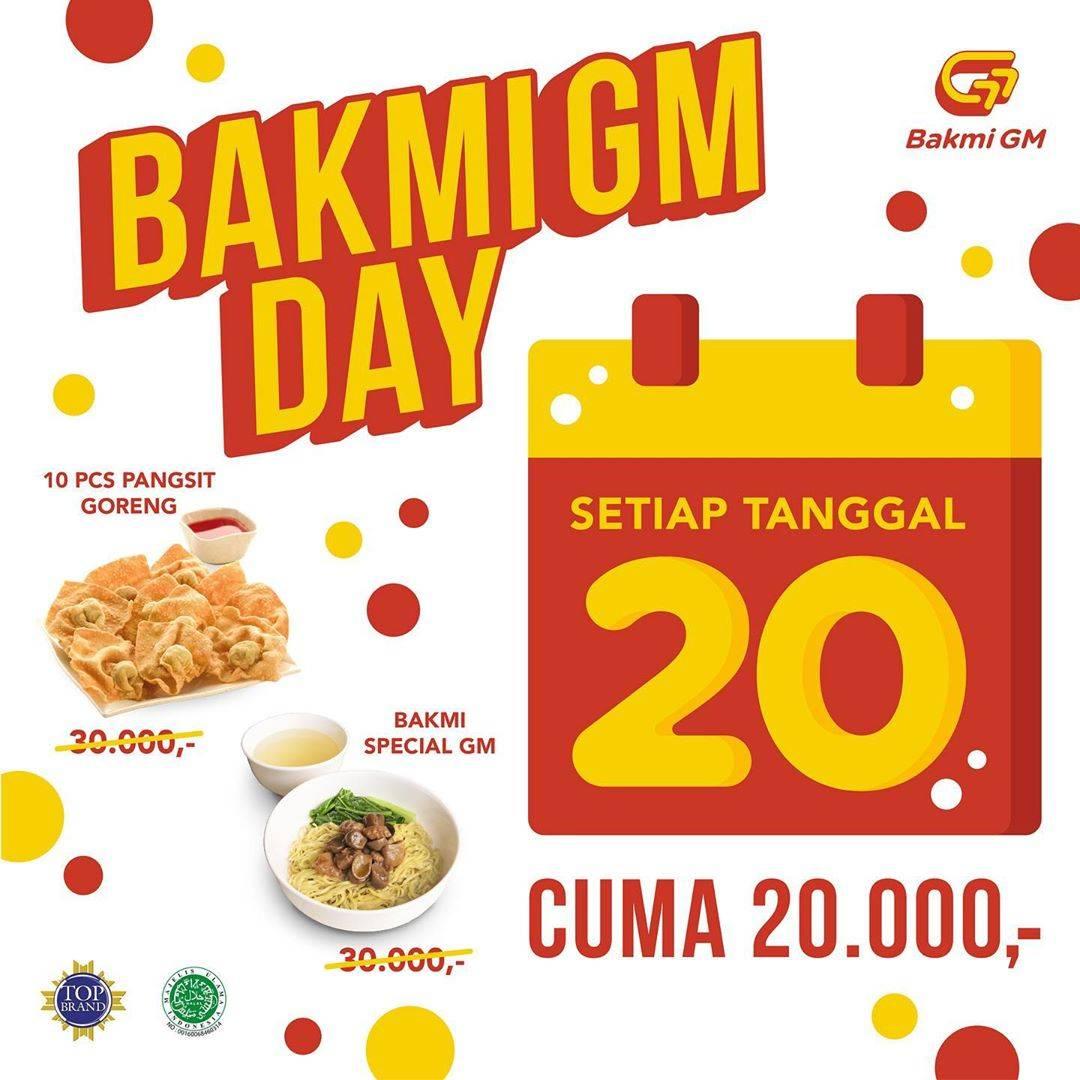 Diskon Bakmi GM Promo Bakmi GM Day Dapatkan Menu Favorit Hanya Dengan Rp. 20.000