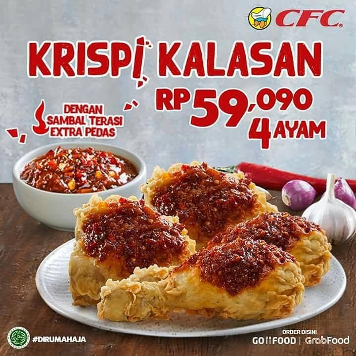 Diskon CFC Promo Paket Ayam Krispi Kalasan Dengan Harga Mulai Dari Rp. 59.090