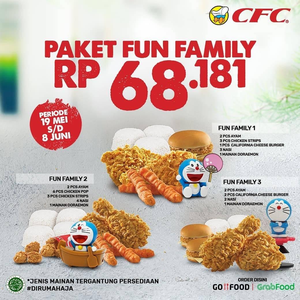 Diskon CFC Promo Harga Spesial Paket Fun Family Hanya Rp. 68.181