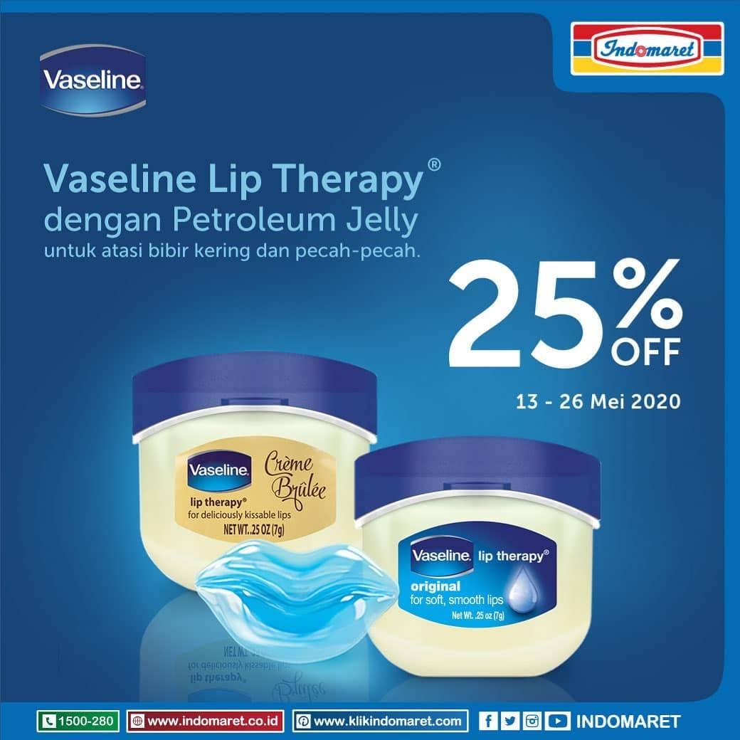 Diskon Indomaret Promo Diskon 25% Untuk Vaseline Lip Therapy