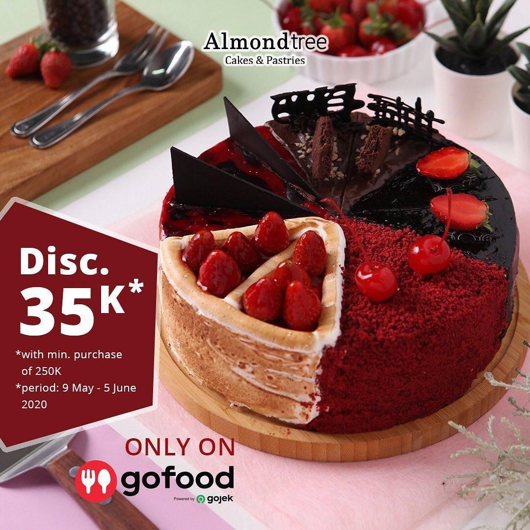 Diskon Almond Tree Promo Diskon Rp. 35.000 Untuk Pemesanan Cake Melalui Aplikasi GoFood