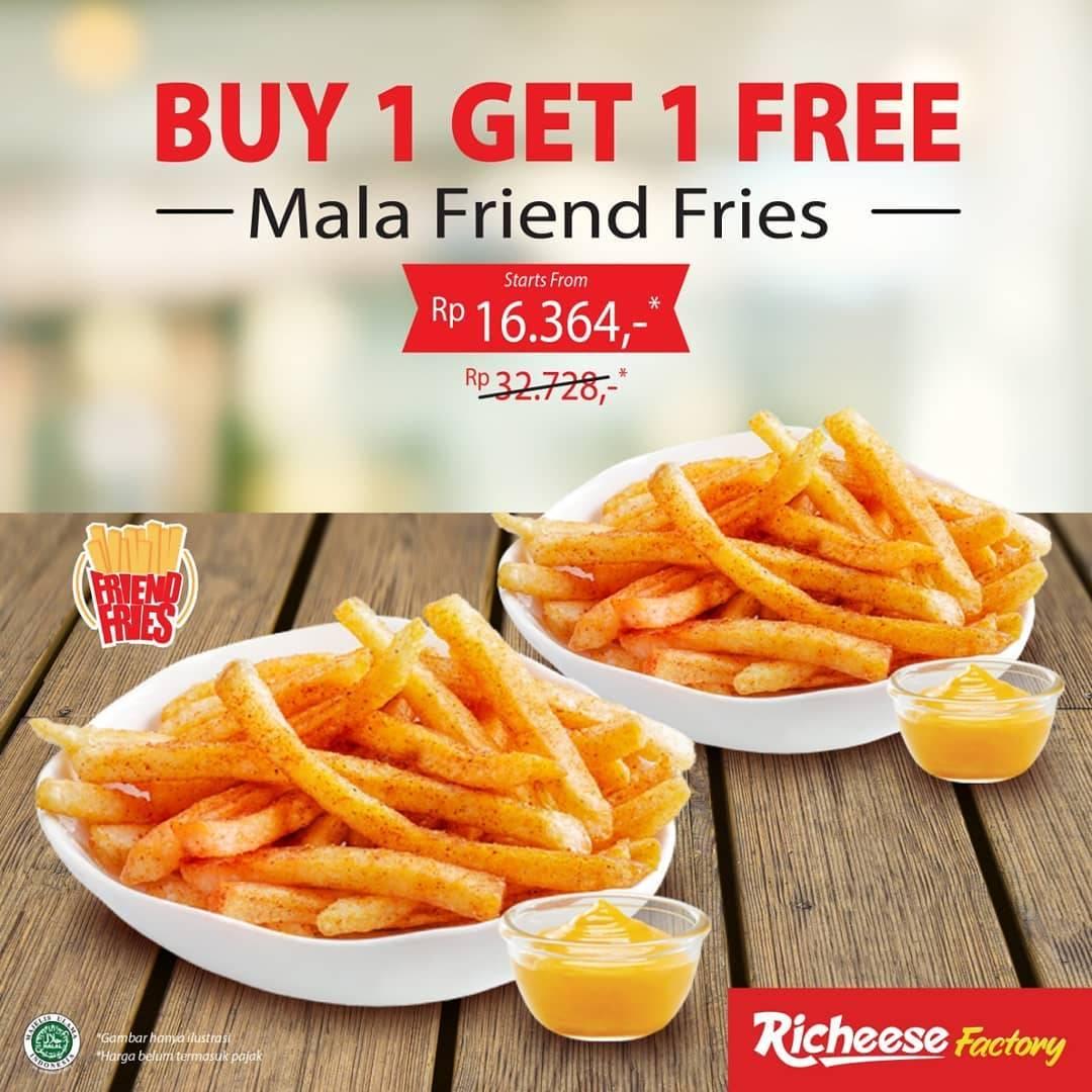Diskon Richeese Promo Beli 1 Gratis 1 Untuk Mala Friend Fries Dengan Harga Mulai Dari Rp. 16.364
