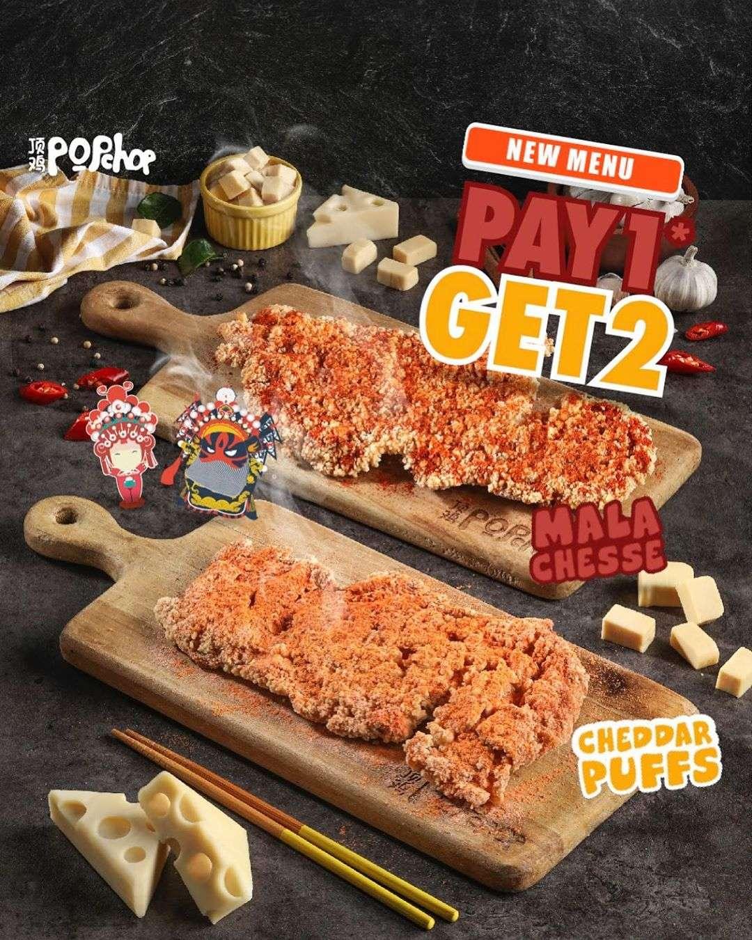 Diskon Popchop Promo Pay 1 Get 2  Untuk Pemesanan 2 Menu Baru Via GoFood