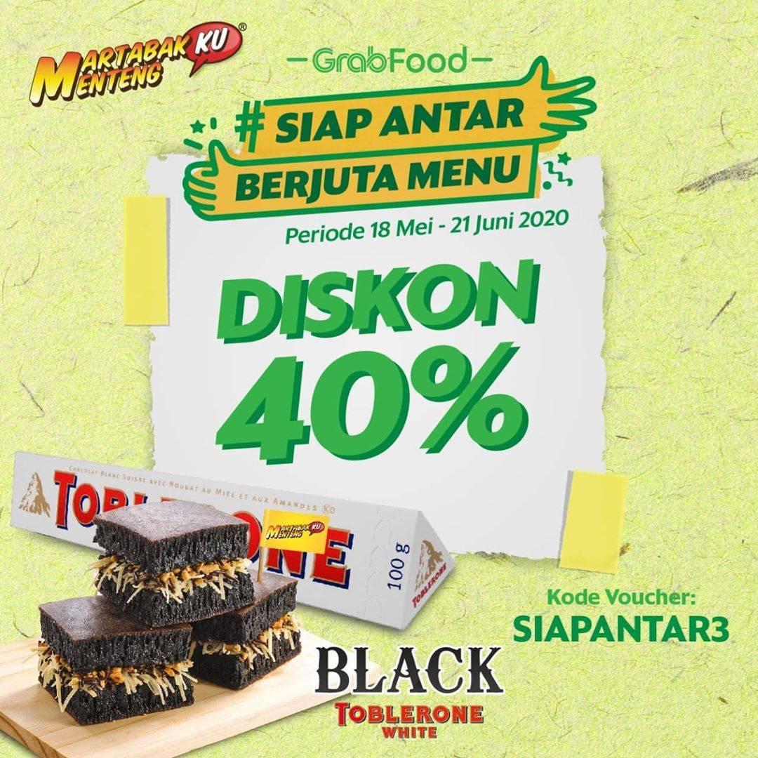 Diskon Martabakku Menteng Promo Diskon 40% Untuk Pemesanan Menu Melalui GrabFood