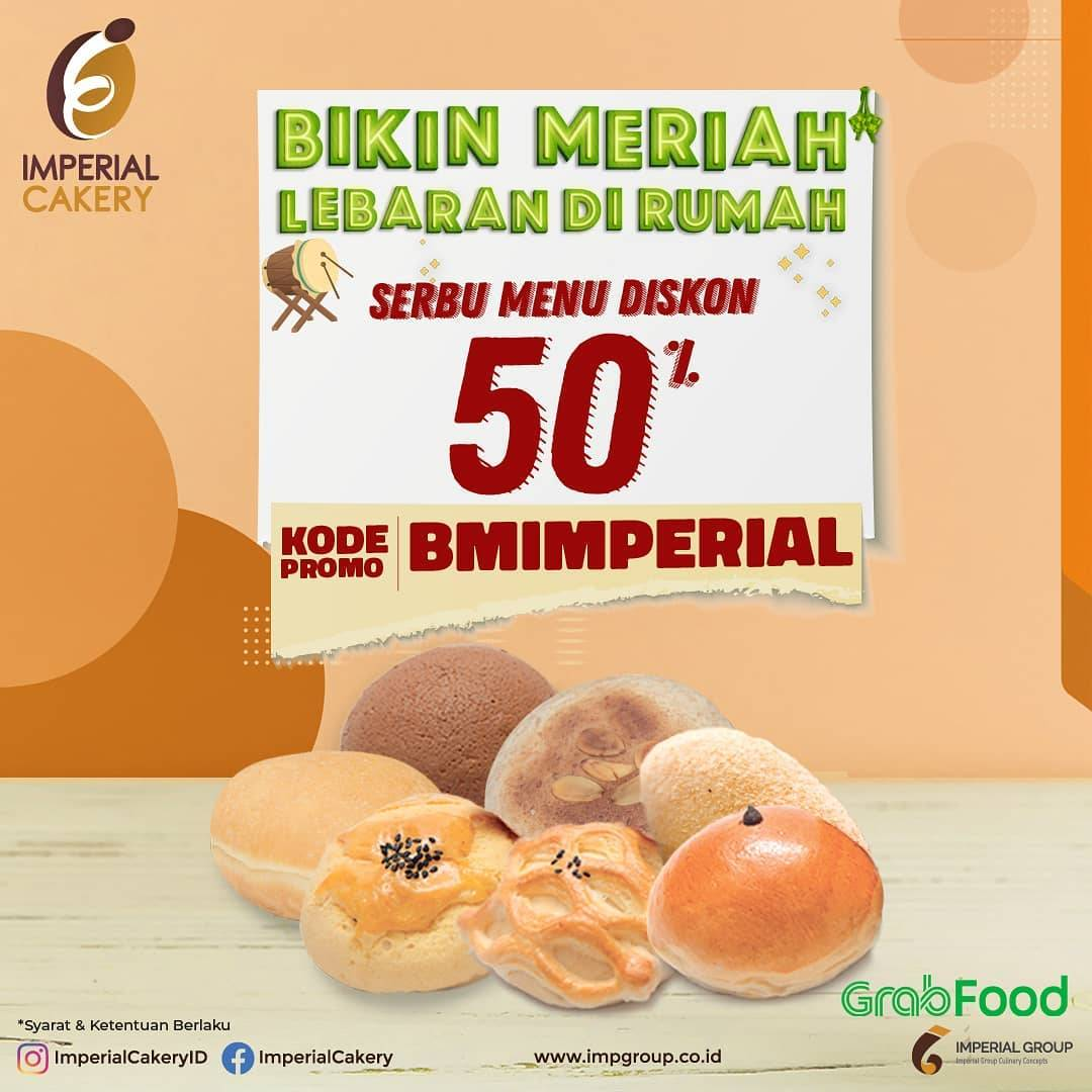 Diskon Imperial Cakery Promo Diskon 50% Untuk Pemesanan Aneka Menu Melalui GrabFood