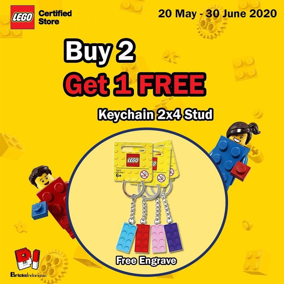 Diskon Lego Promo Buy 2 Lego Keychain 2x4 Stud Get 1 Free Engrave