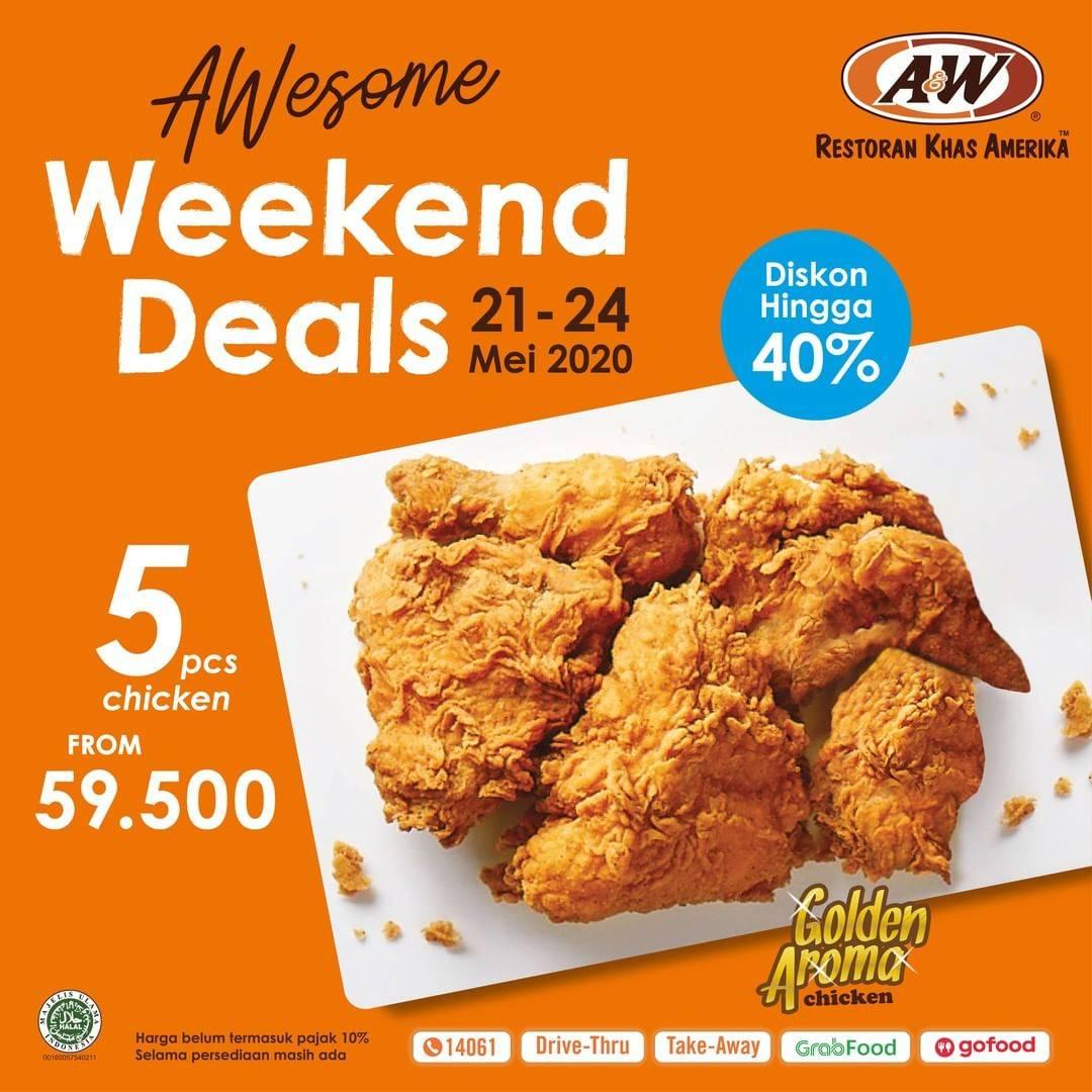 Diskon A&W Promo Diskon Hingga 49% Untuk 5 Pcs Ayam Golden Aroma