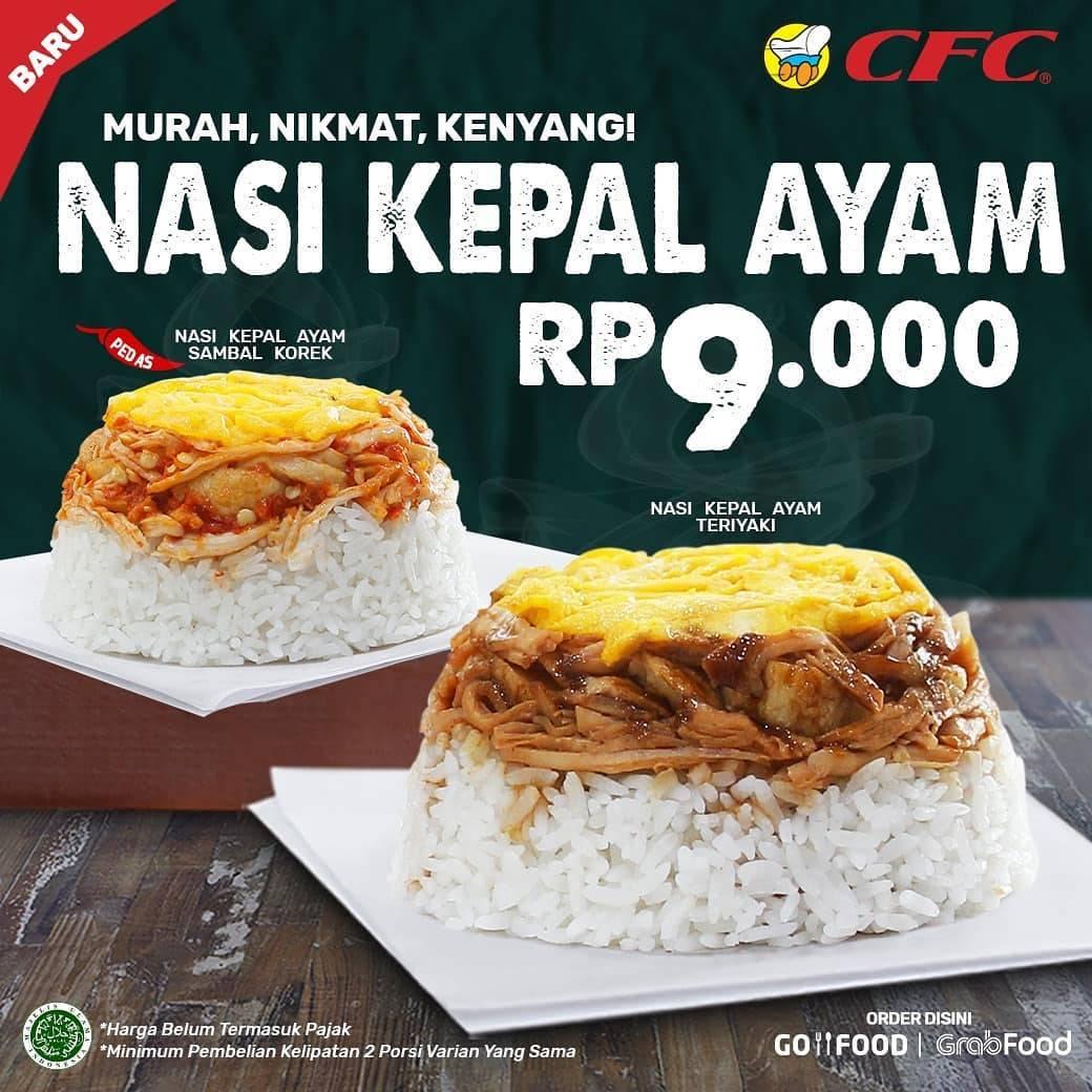 Diskon CFC Promo Harga Spesial Nasi Kepal Ayam Hanya Rp. 9.000