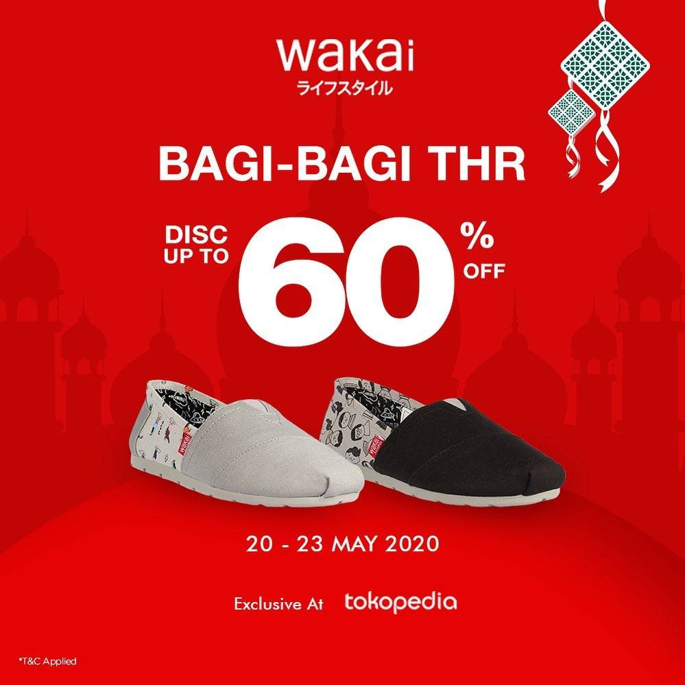 Diskon Wakai Promo Discount Up To 60% Di Tokopedia