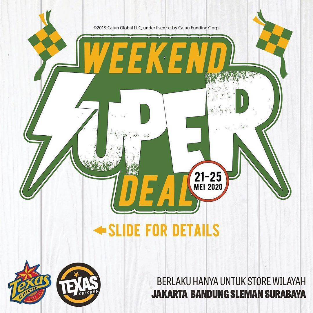Diskon Texas Chicken Promo Harga Spesial Menu Weekend Super Deal Cuma Rp. 55.000