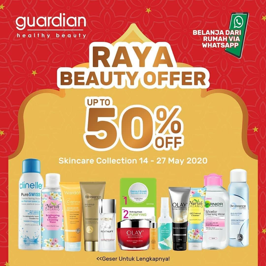 Diskon Guardian Promo Raya Beauty Offer, Diskon Hingga 50% Untuk Produk - Produk Skincare