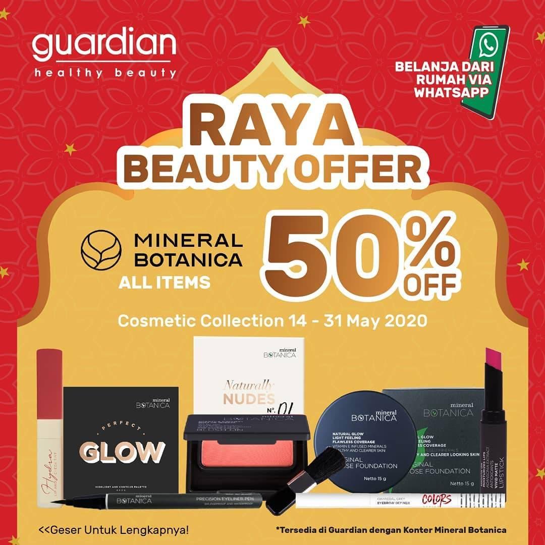 Diskon Guardian Promo Raya Beauty Offer, Diskon Hingga 50% Untuk Semua Produk Mineral Botanica