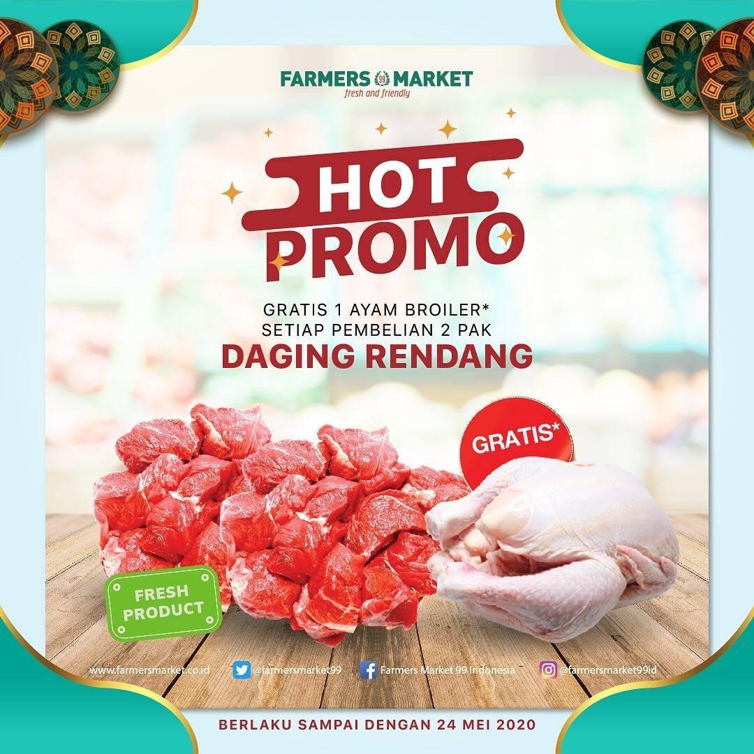 Diskon Farmers Market Promo Gratis 1 Ekor Ayam Broiler Setiap Pembelian 2 Pak Daging Rendang