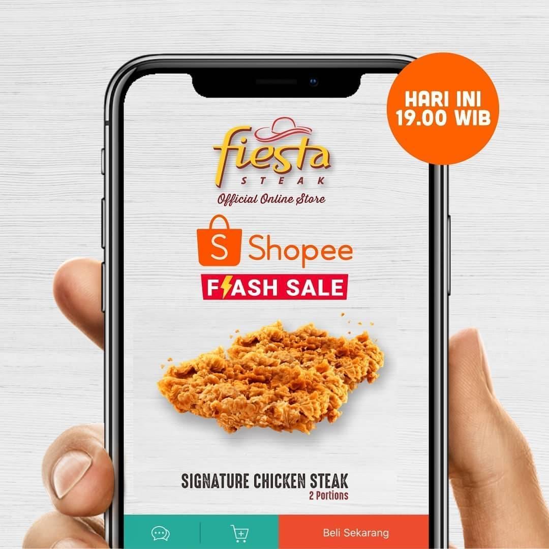 Diskon Fiesta Steak Promo Flash Sale Signature Chicken Steak Cuma Rp. 35.000 Hanya Di Shopee