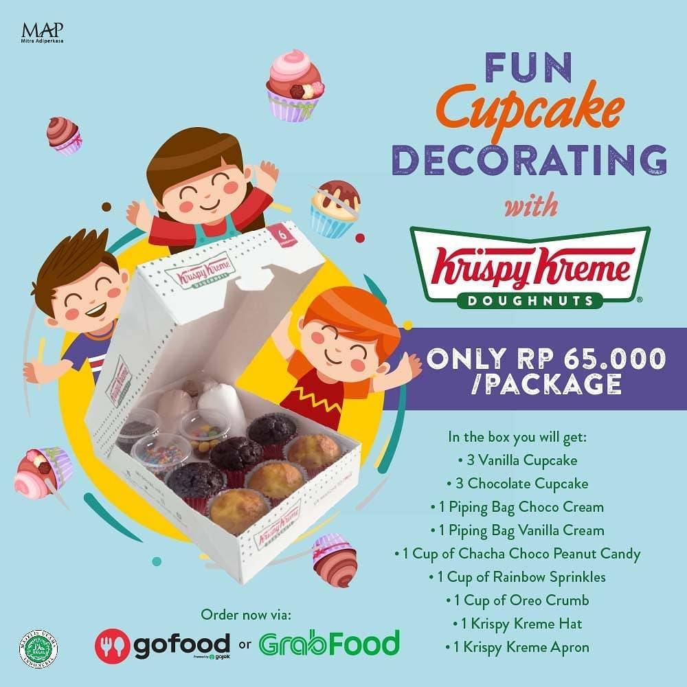 Diskon Krispy Kreme Promo Fun Cupcake Decorating Package Only For IDR 65.000