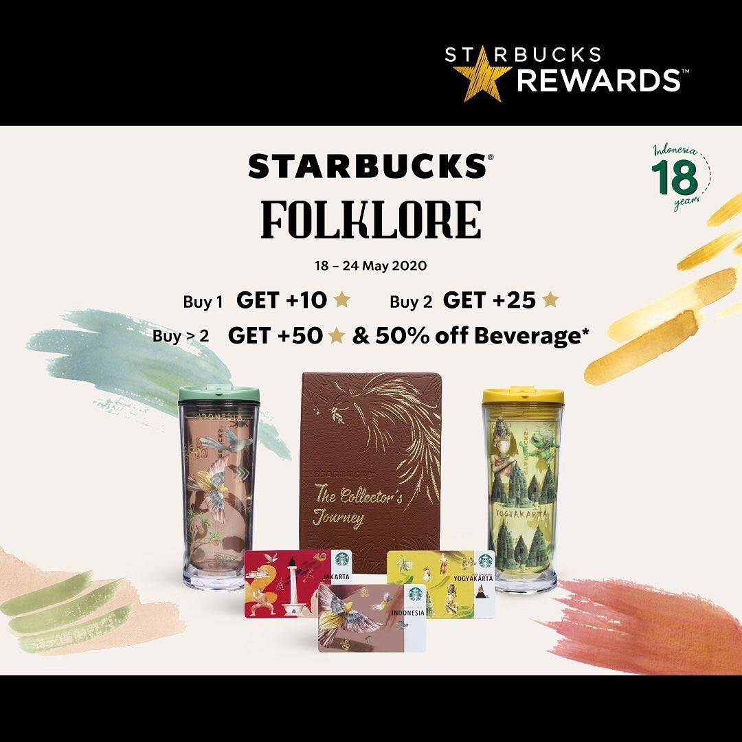 Diskon Starbucks Promo Starbucks Reward Edisi Folkcore City Collection