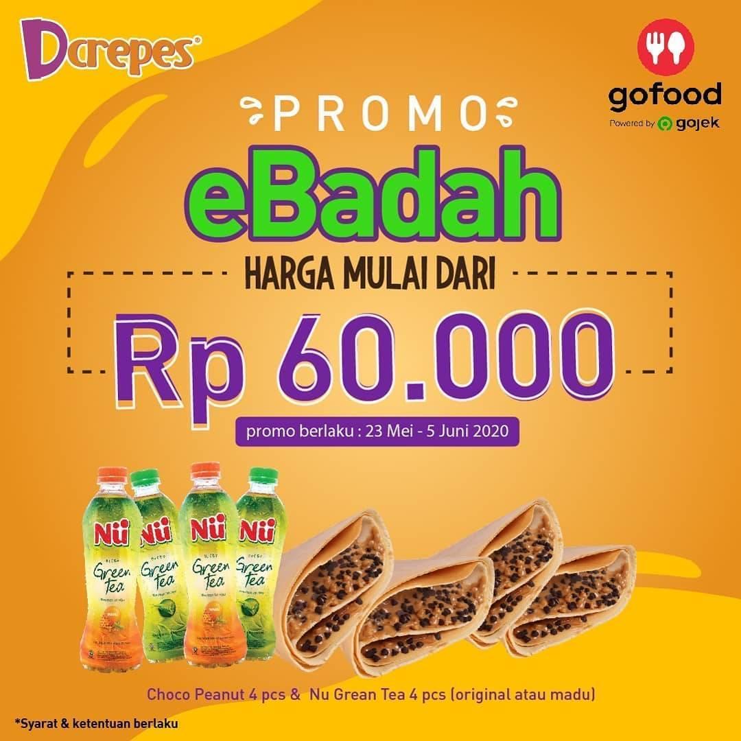 Diskon Dcrepes Promo eBadah Di GoFood, 4 Pcs Crepes & 4 Minuman Dengan Harga Mulai Dari Rp.60.000