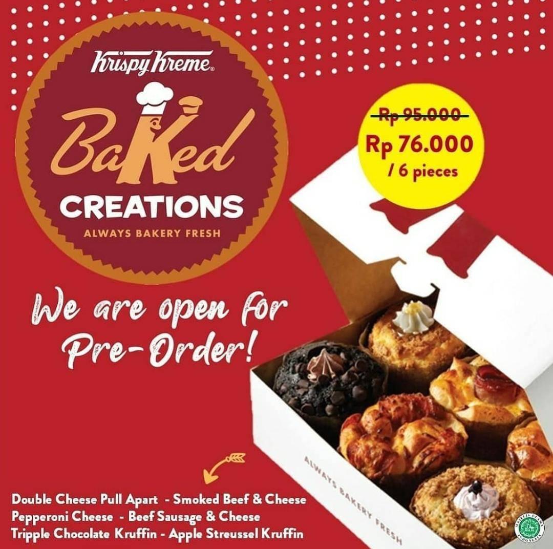 Diskon Krispy Kreme Promo Pre Order Baked Creations Dengan Harga Rp. 76.000