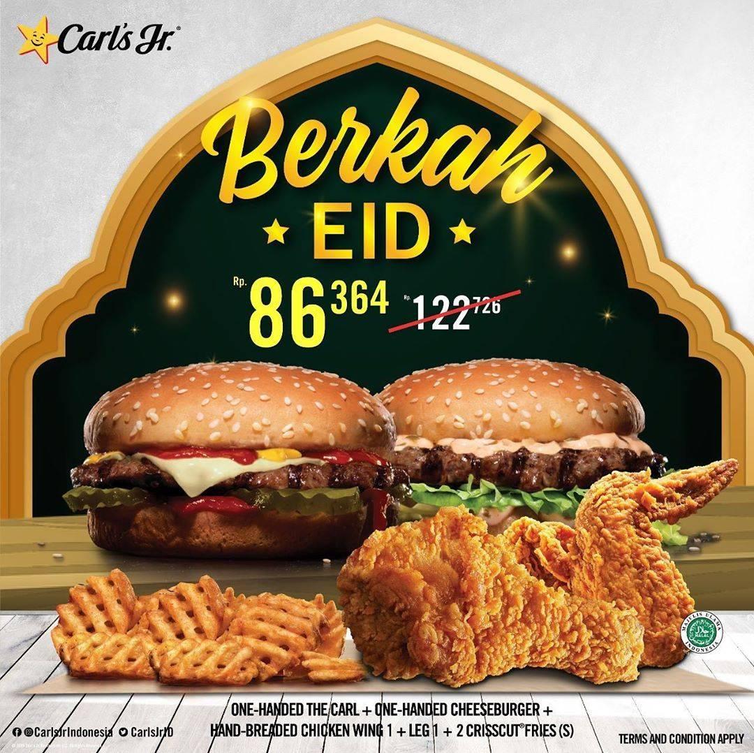 Diskon Carls Jr Promo Harga Spesial Paket Berkah EID Hanya Rp. 86.364
