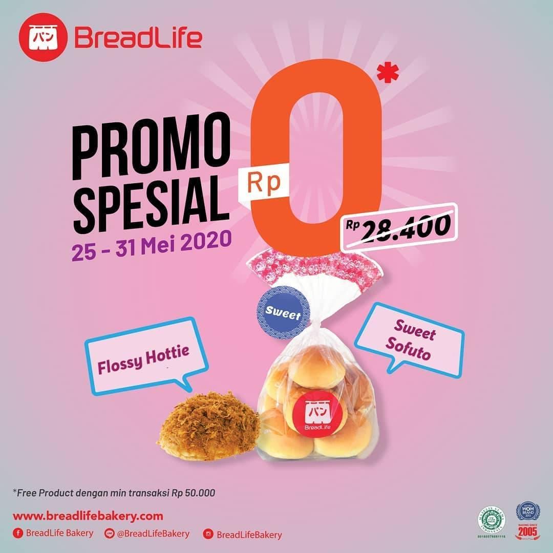 Diskon Breadlife Promo Gratis Sweet Sofuto & Flossy Hottie