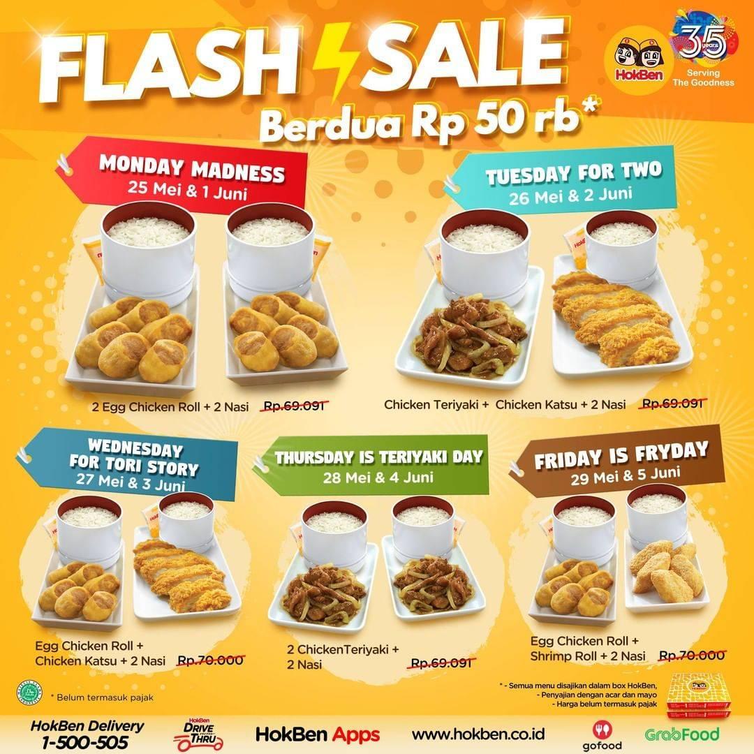 Diskon HokBen Promo Flash Sale Paket HokBen Berdua Cuma Rp. 50.000