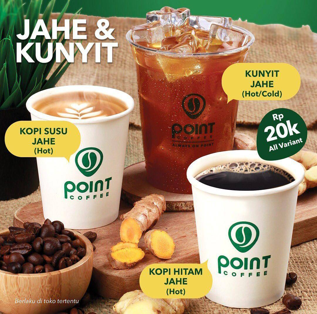 Diskon Point Coffee Promo Harga Spesial Varian Jahe & Kunyit Di Aplikasi GrabFood Cuma Rp. 20.000