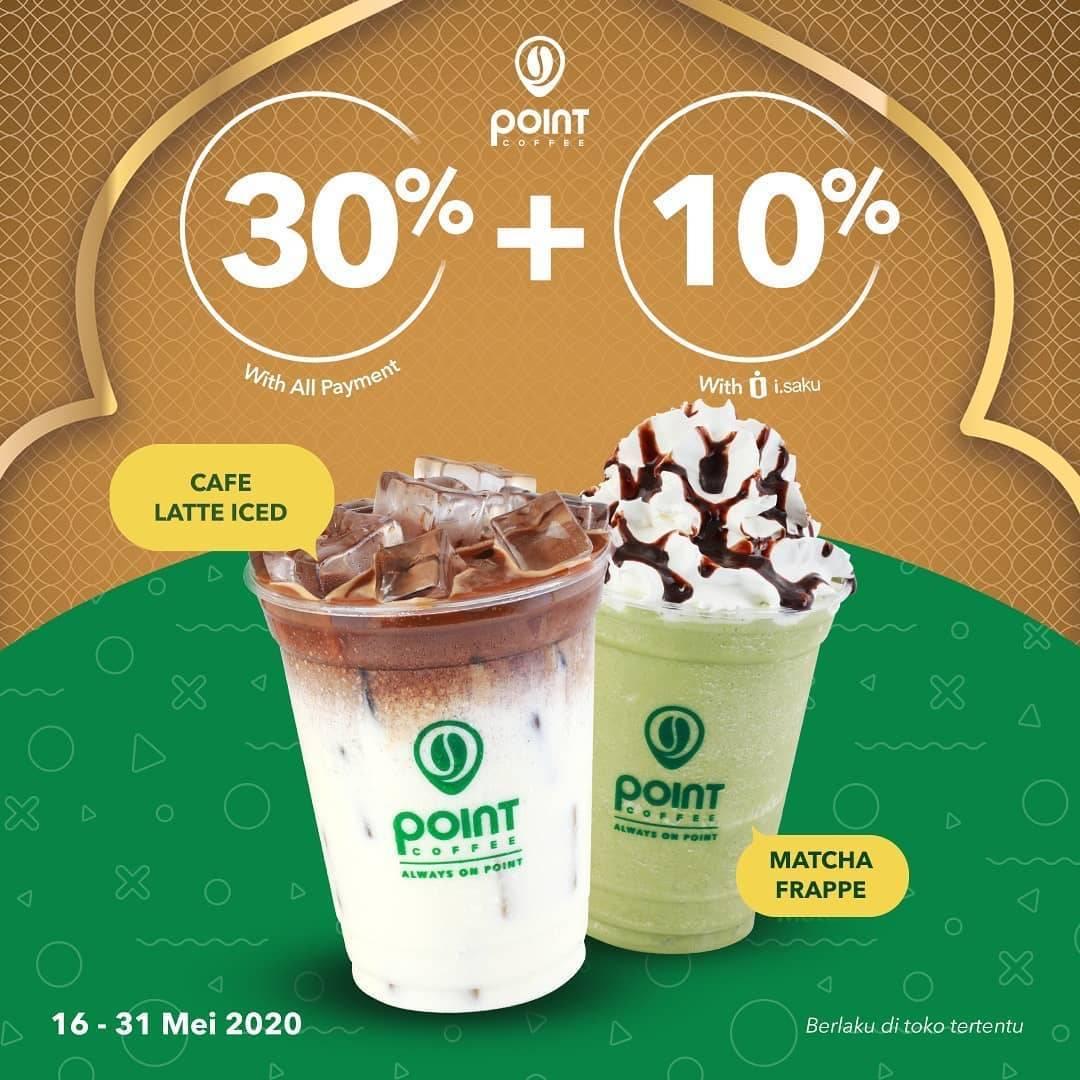 Diskon Point Coffee Promo Diskon 30% Untuk Transaksi Lain & Diskon 40% Untuk Transaksi Dengan i.Saku
